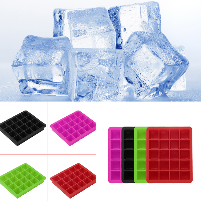 20-Cavity Large Cube Ice Pudding Jelly Maker Mold Mould Tray Silicone Tool UR