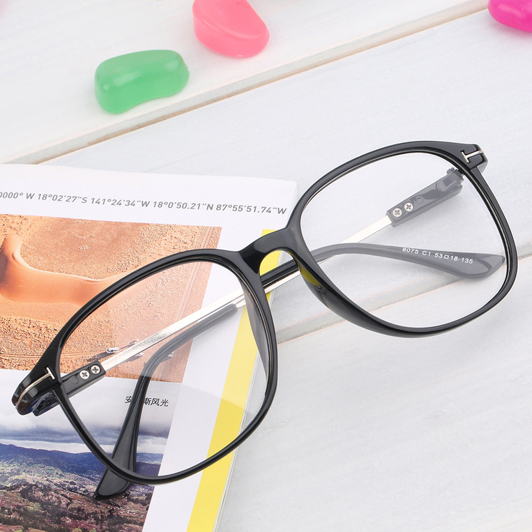 Fashion Retro Eyeglasses Clear Lens Vintage Decor Black ...