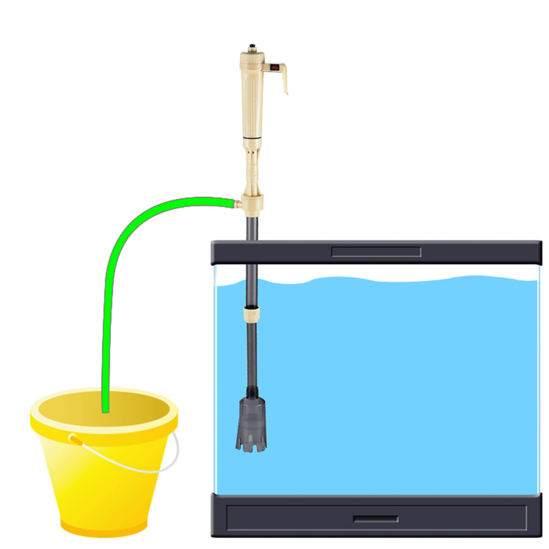 New electric siphon vacuum cleaner water filter pump for for Fish tank syphon