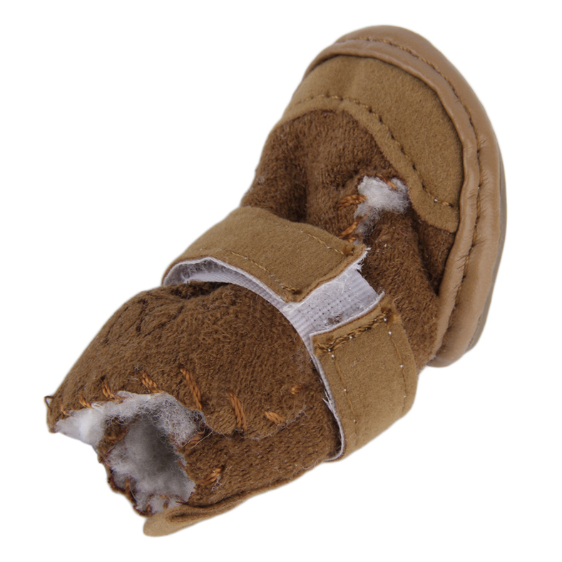 Lovely Winter Warm Pet Dog Shoes Anti Slip Snow Boots For