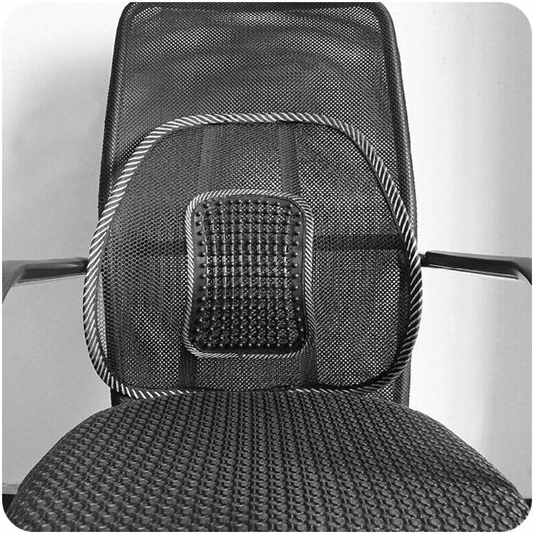 lumbar back support car seat massage mesh ventilate cushion waist gauze pad s ebay. Black Bedroom Furniture Sets. Home Design Ideas