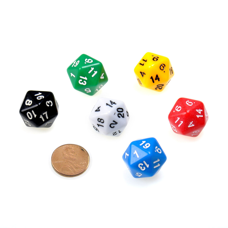 how to read a 20 sided die