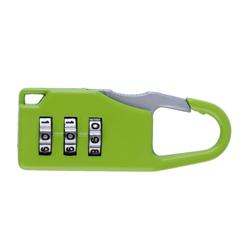 Security 3 Combination Travel Suitcase Luggage Bag Code Lock Zipper Padlock#J