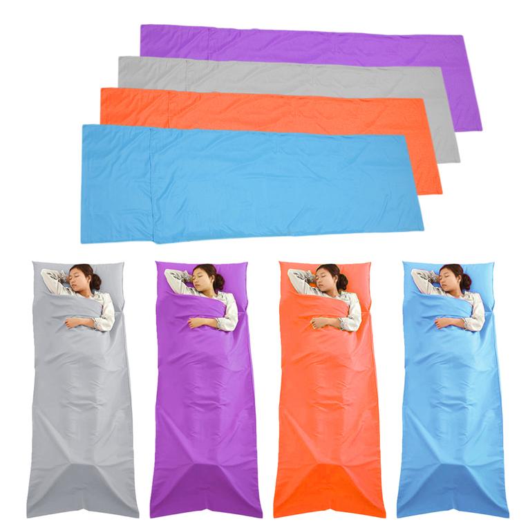 Sleeping Bag Liner Travel Sleep Sack Sheet Hiking Camping Tent Mat Pad WK