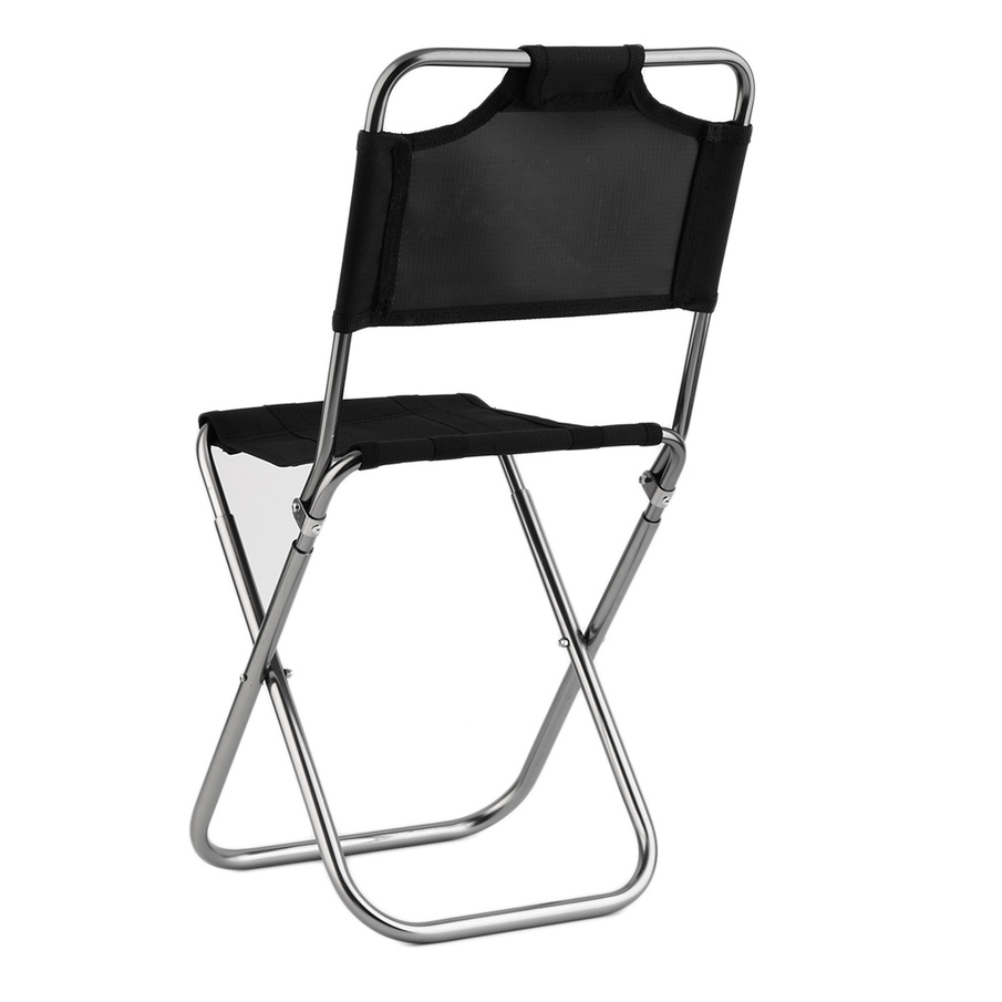 Mini Portable Folding Oxford Aluminum Chair Stool Seat for Camping Fishing SL