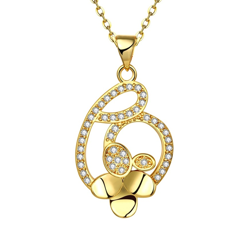 Hot Fashion Jewelry Women's Clover Pendant Zircon Crystal ...