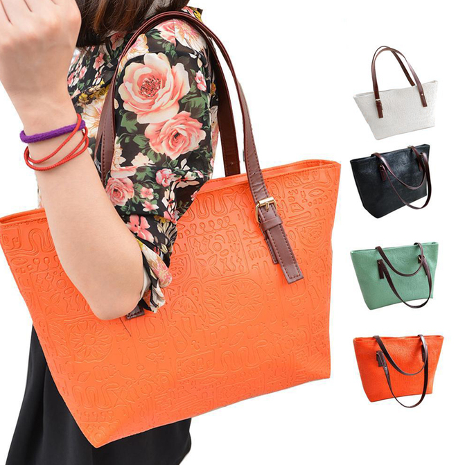 Women Lady Vintage Big Purse Bag Tote Fashion Handbag Shoulder ...
