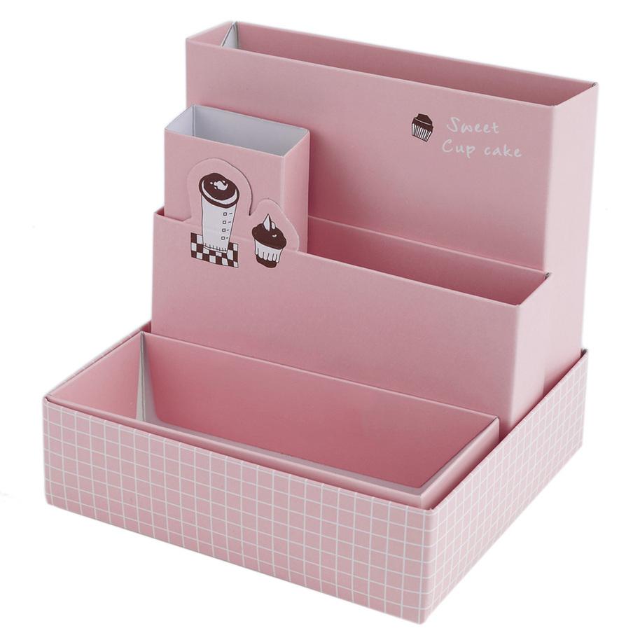 Decorative Boxes For Paper Storage : Diy paper board storage box desk decor stationery cosmetic