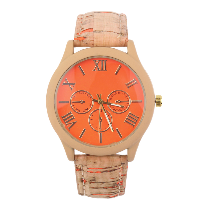 fashion casual men women watches wooden color pu - Color Watches