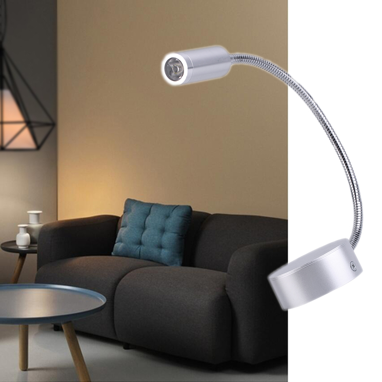 Bedside Wall Lamp With Led : LED Bedside Lamp Reading Wall Lamps Soft Tube Adjustable 3W Without Switch QT eBay