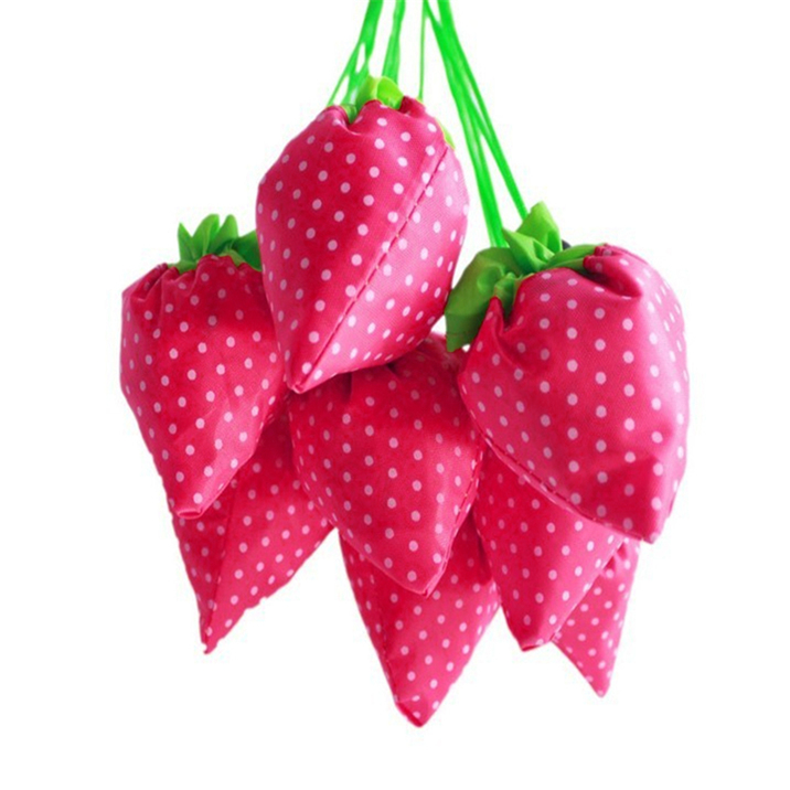 1 pc Strawberry Foldable Shopping Bag Tote Reusable Eco Friendly ...