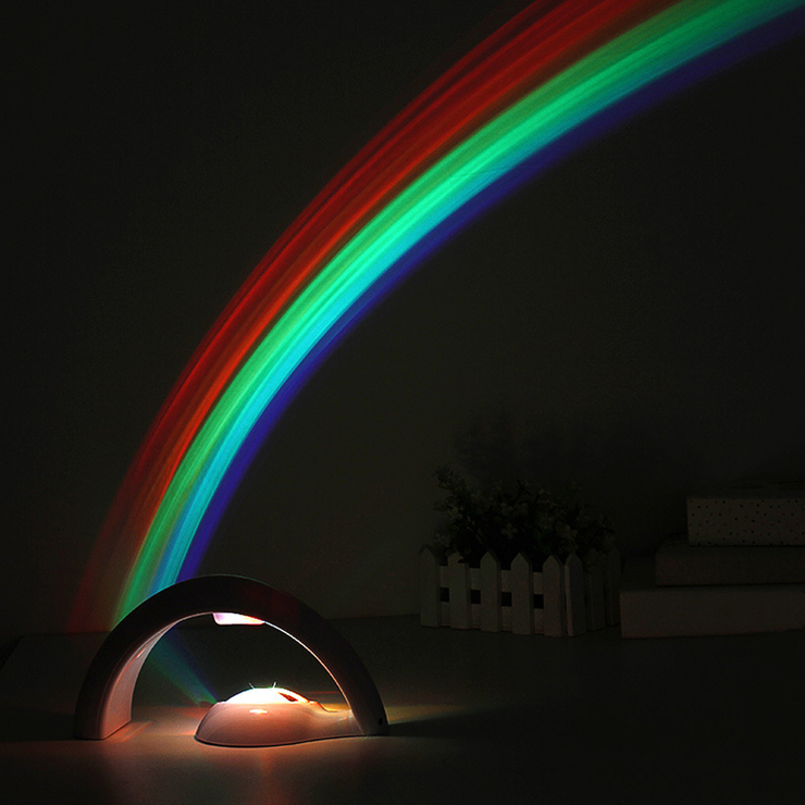 Led Lights Rainbow: LED Cute Rainbow Projector Color Night Lamp Light Gift