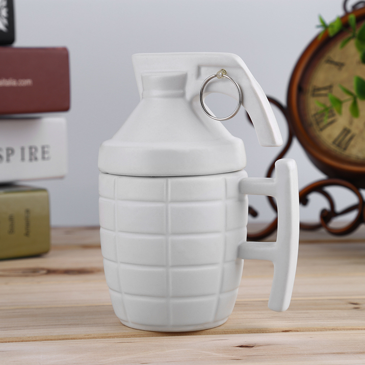 New Novelty Funny Ceramic Grenade Shaped Mug Coffee Tea
