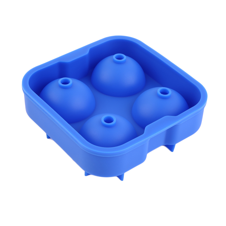 new round ice balls maker tray four sphere molds cube whiskey cocktails jl ebay. Black Bedroom Furniture Sets. Home Design Ideas