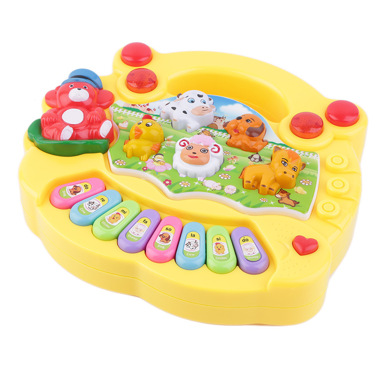 Musical Educational Toys : Baby kids musical educational animal farm piano