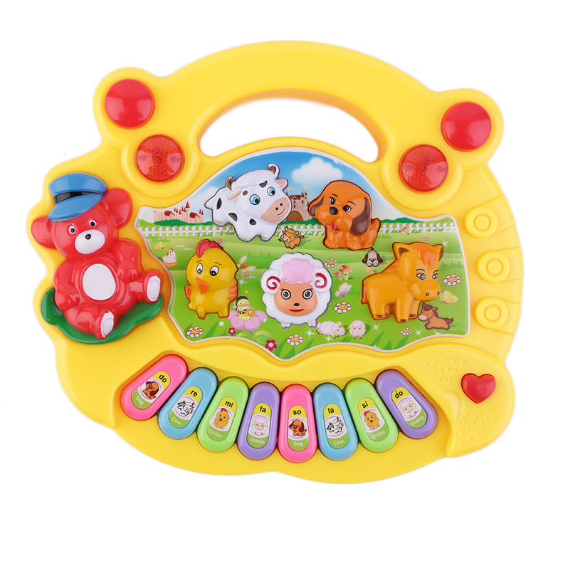 Baby Musical Toys : Baby kids musical educational animal farm piano