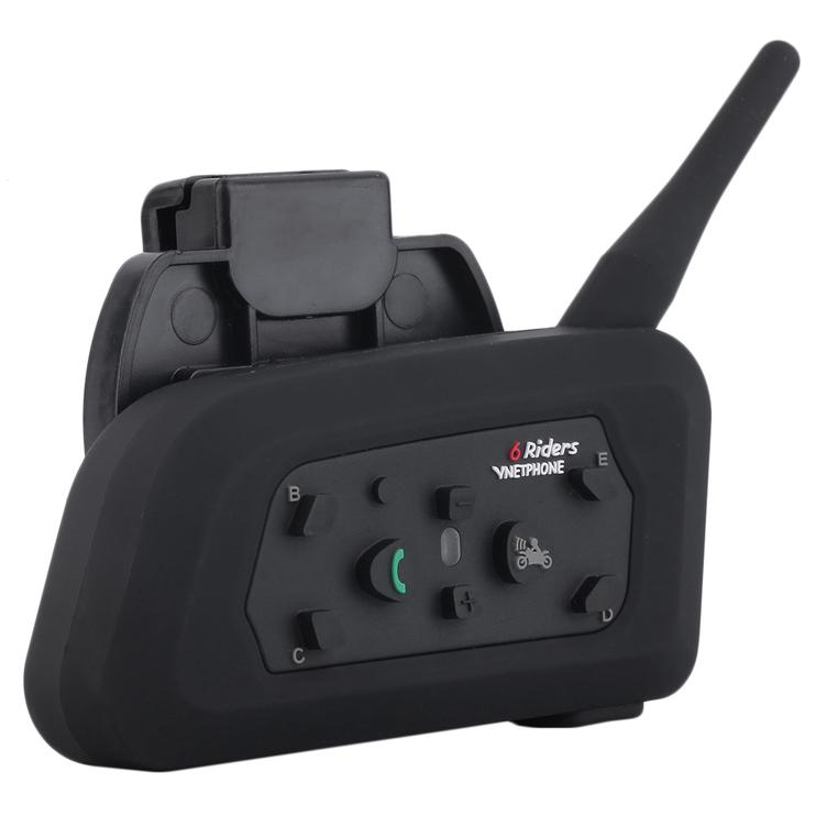 V6 1200m Bluetooth Intercom For Motorcycle Helmet Headset Interphone XL
