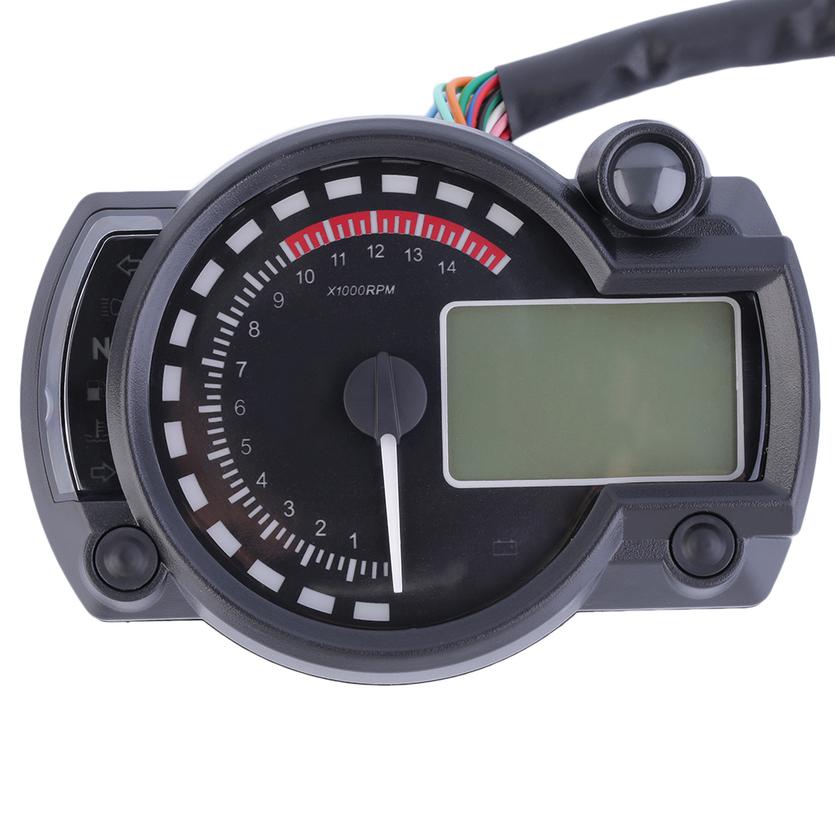 Digital Odometer Gauge : Rpm motorcycle digital lcd gauge speedometer