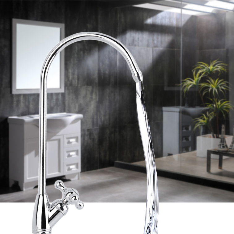 Wash Basin For Kitchen : ... -Steel-Chrome-Water-Tap-Basin-Kitchen-Wash-Basin-Faucet-Bathroom-QT
