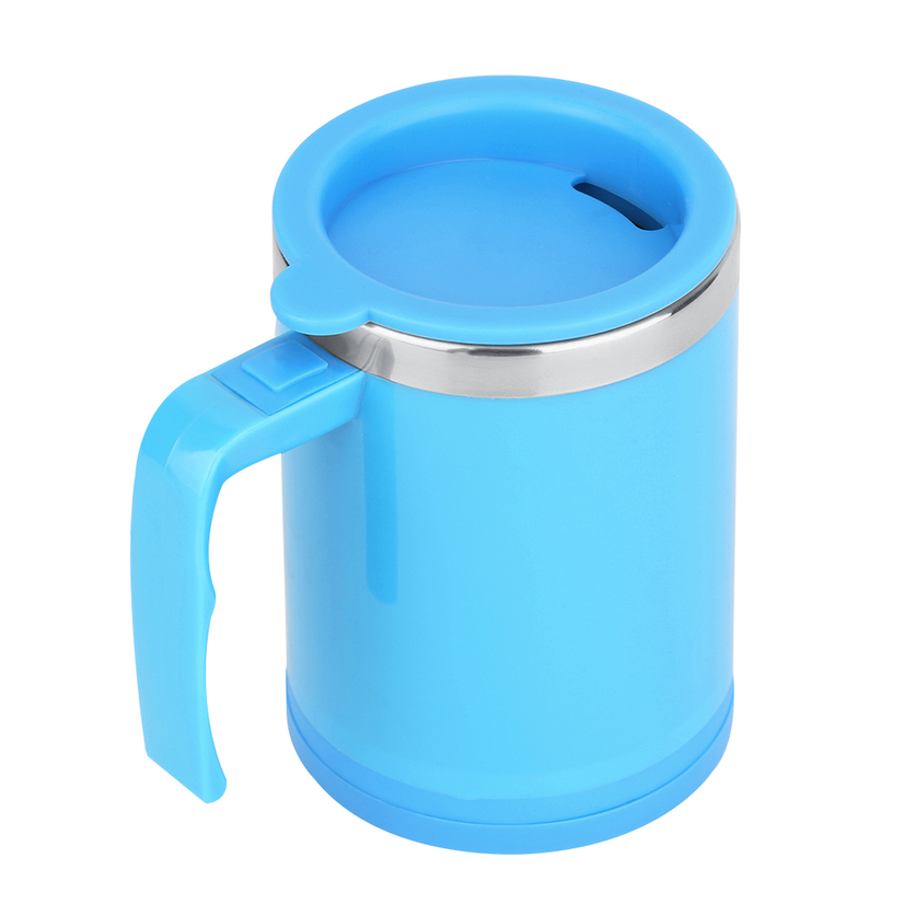 400ml stainless self stirring mug auto mixing drink tea coffee cup with lid xl ebay. Black Bedroom Furniture Sets. Home Design Ideas