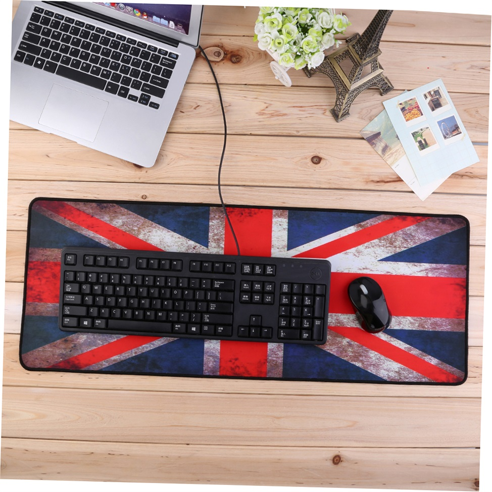 Rubber XL Large Size 800*300 Anti-Slip Laptop PC Mouse Pad Gaming Mat Red GO