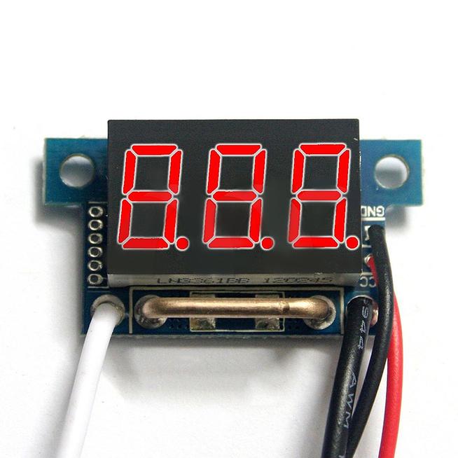 2 Inch Digital Panel Meter : Inch red led digital dc ammeter amp mini current