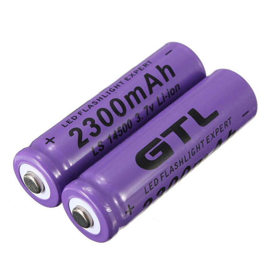 4pcs 3 7v 2300mah 14500 aa li ion rechargeable battery for led flashlight gu ebay. Black Bedroom Furniture Sets. Home Design Ideas