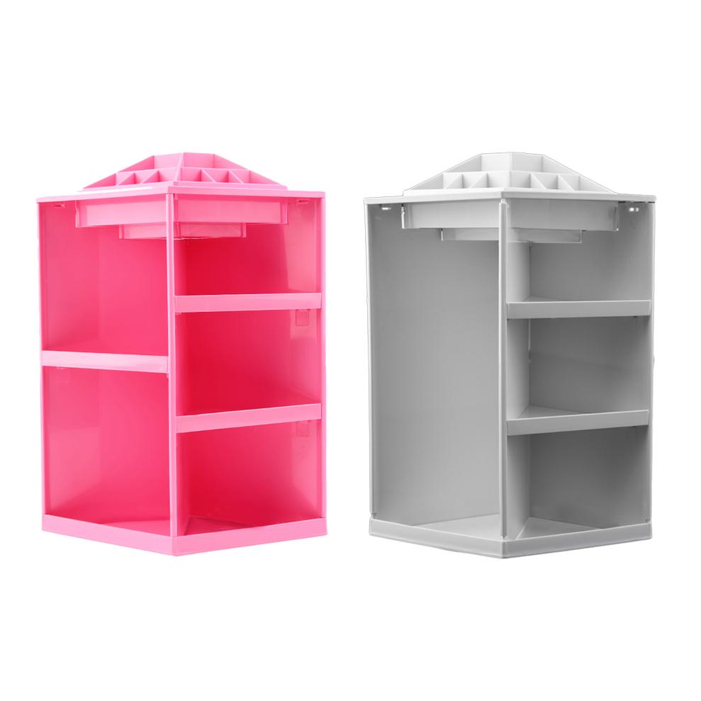 Exhibition Stand Storage : Rotating make up organizer cosmetic display brush lipstick
