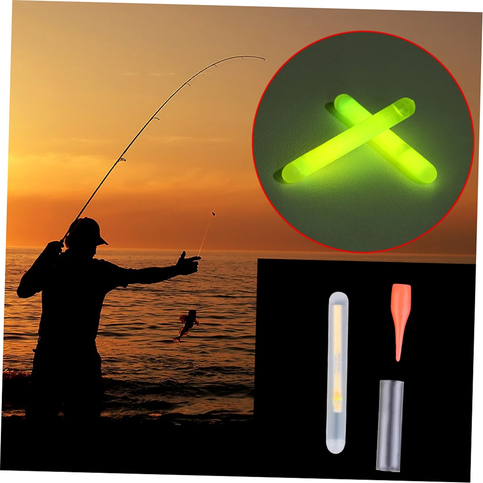 15pcs mini fishing fish fluorescent glow stick float for Glow in the dark fishing pole