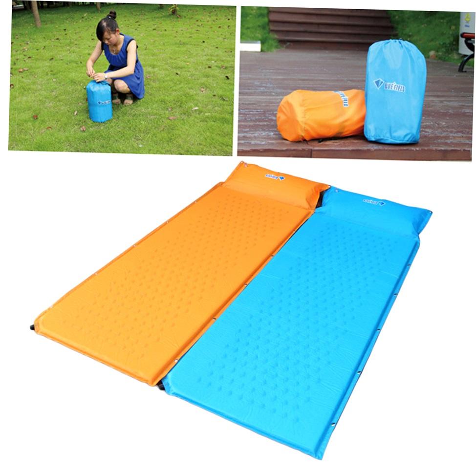 Self Inflate Camping Mat Inflatable Pillow Sleeping Bag ...