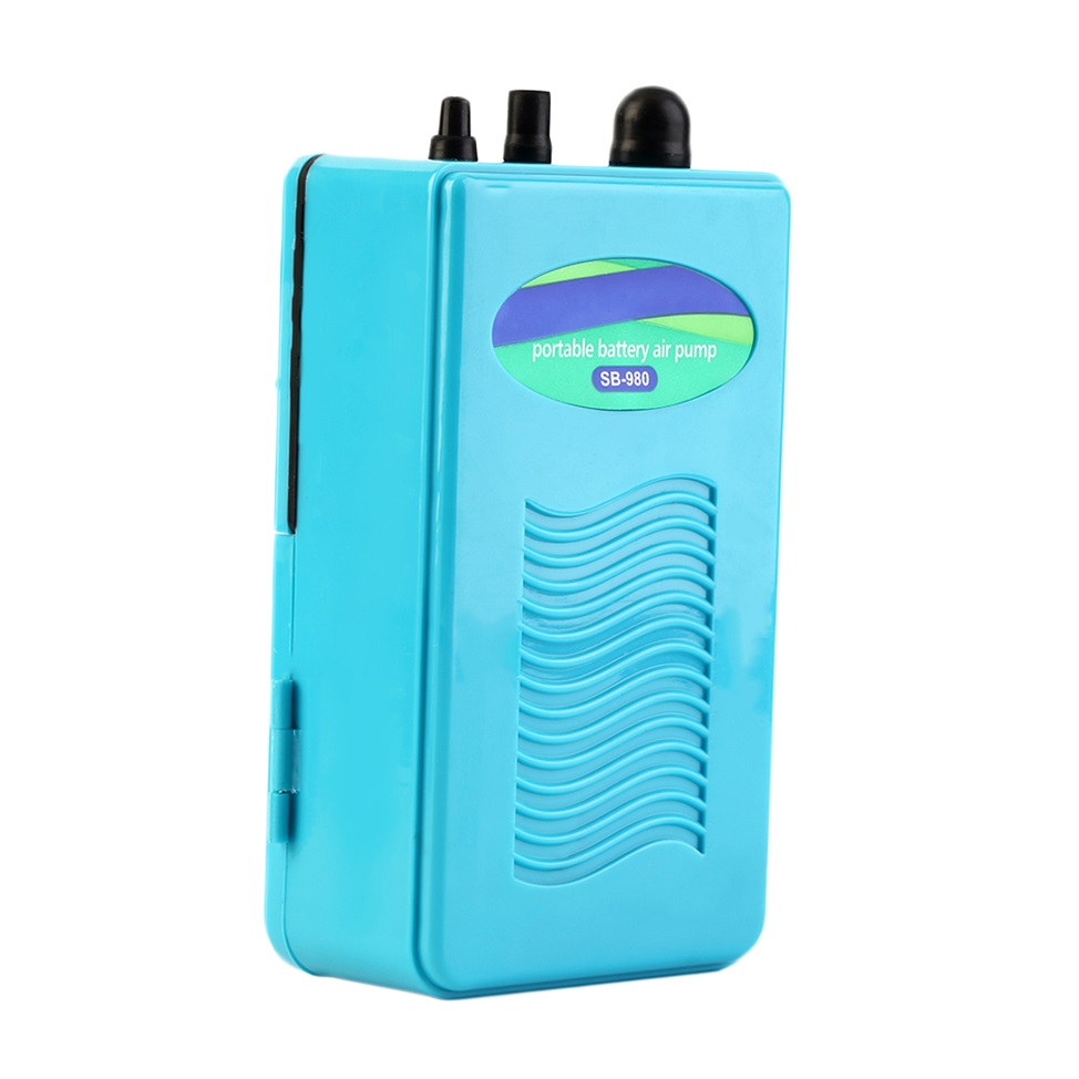 Portable aquarium battery backup operated fish tank air for Battery operated fish