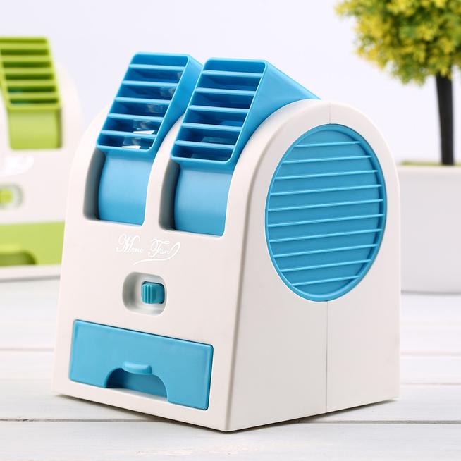 Mini Air Conditioner Portable Desktop Dual Bladeless Usb