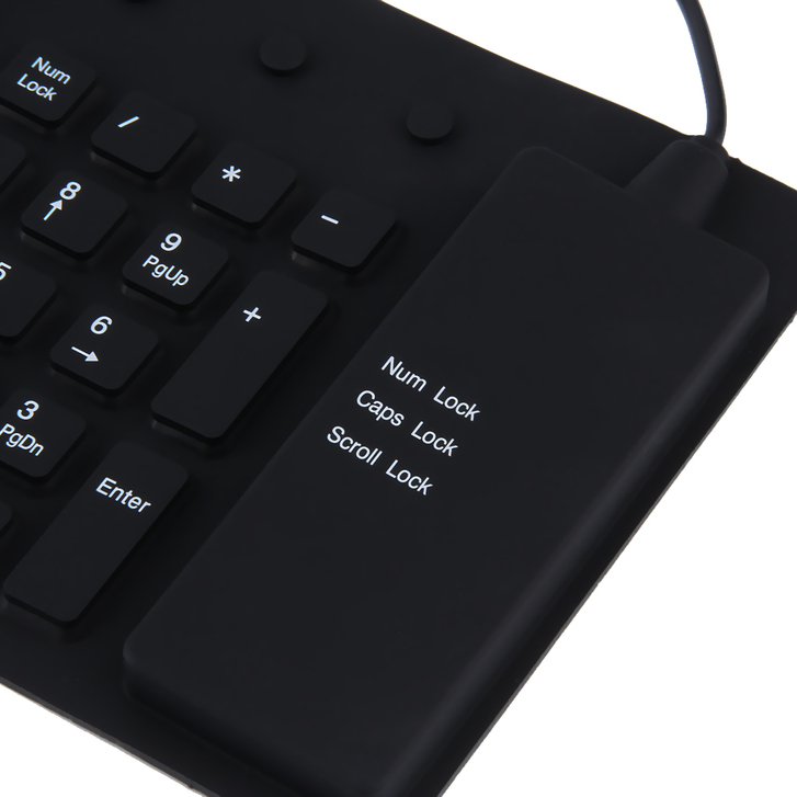 waterproof portable soft flexible silicone keyboard for pc laptop 109 keys gk ebay. Black Bedroom Furniture Sets. Home Design Ideas
