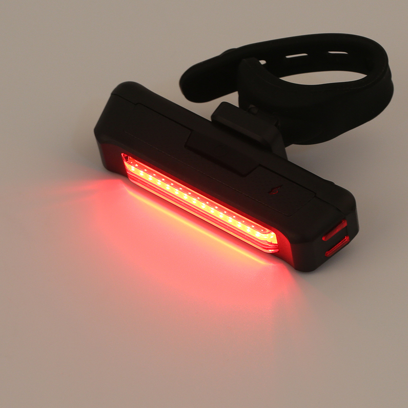 USB Rechargeable Bike Bicycle Light Rear Back Safety Tail ...