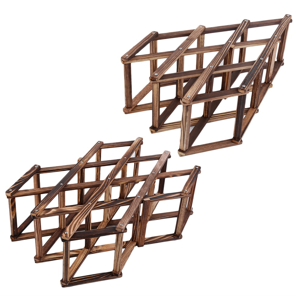 Wooden Red Wine Rack 3/6/10 Bottle Holder Mount Kitchen Bar Display Shelf AA 4