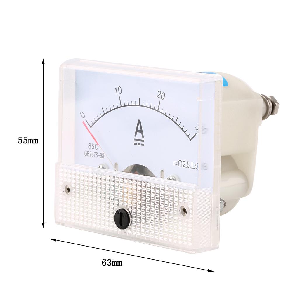 12 Volt Dc Amp Meter Analog : Dc a analog ammeter panel amp cu end am