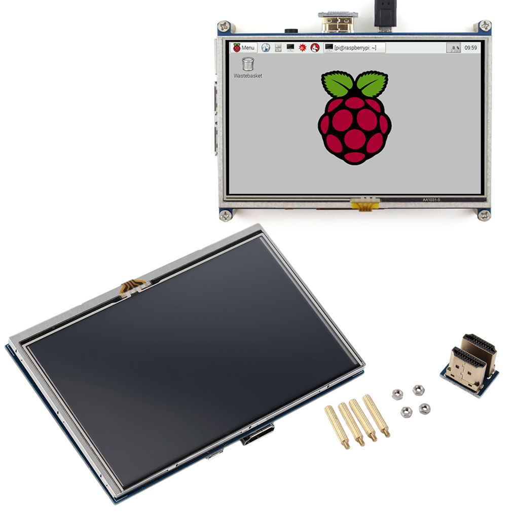 5 inch resistive touch screen lcd display hdmi for raspberry pi xpt2046 ul. Black Bedroom Furniture Sets. Home Design Ideas