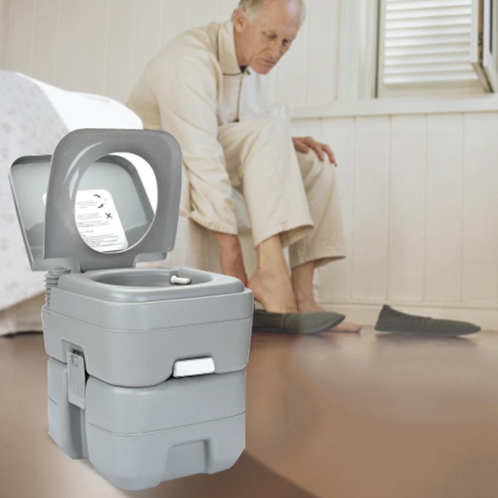 Portable camping toilet loo caravan flush travel outdoor - Pot de chambre camping ...