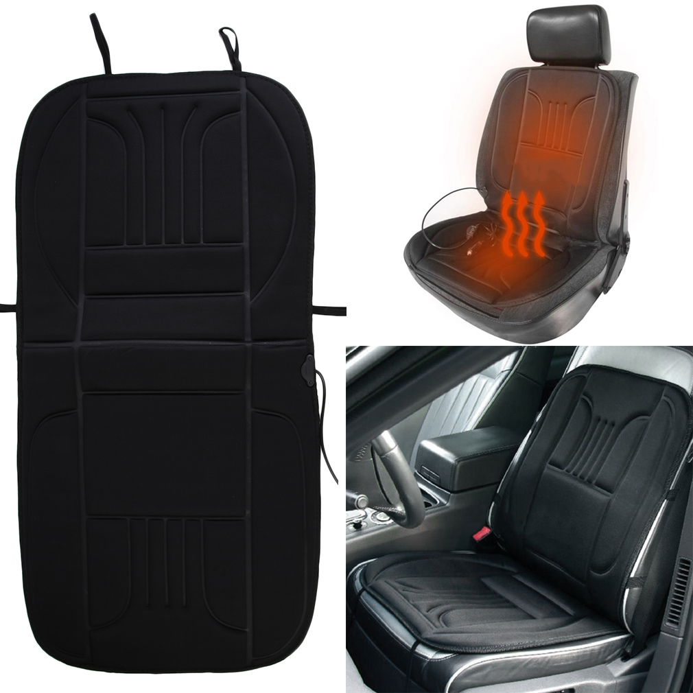 2X 12V Car Front Seat Heated Cushion Hot Cover 12V Heater Winter Warmer Pad U