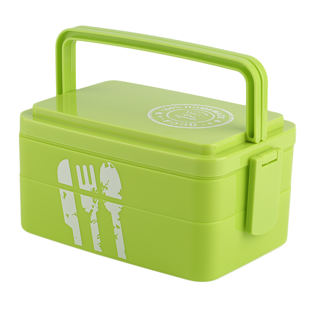 plastic kids picnic bento lunch box lock food container storage bpa free go ebay. Black Bedroom Furniture Sets. Home Design Ideas