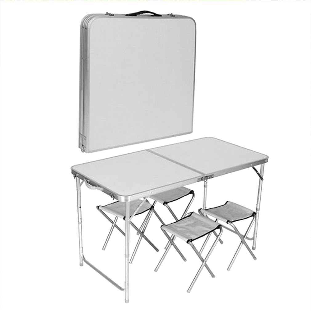 HEAVY DUTY PORTABLE FOLDING TABLE CHAIR SET PICNIC CAMPING BBQ PARTY GA