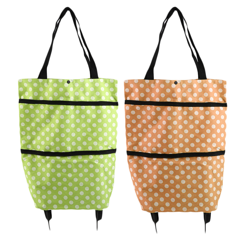 portable folding wheel handle carry shopping bag rolling grocery cart tote s4w ebay. Black Bedroom Furniture Sets. Home Design Ideas