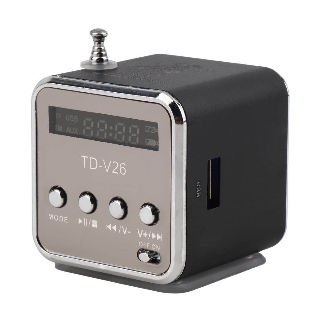 Portable TF USB Mini Stereo Speaker Music Player FM Radio