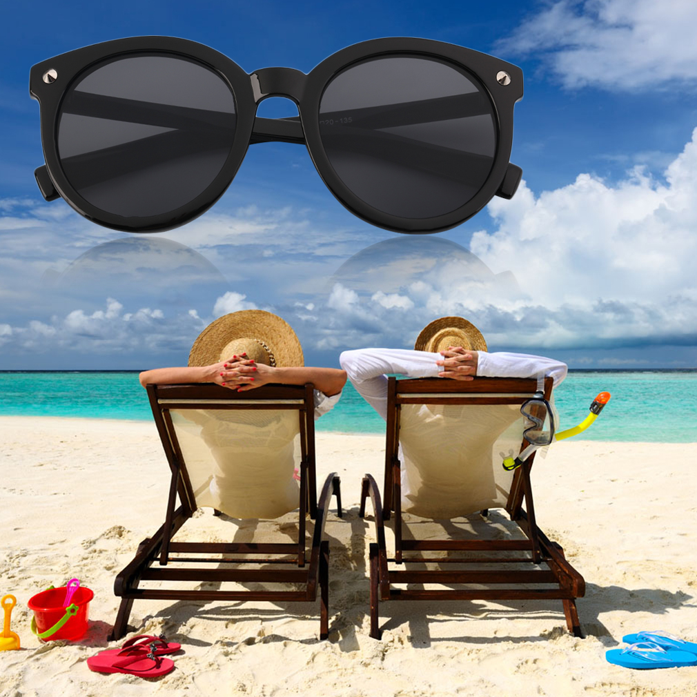 New Fashion Cool Sunglasses Round Frame Black/Matt Black/Leopard/Brown WE
