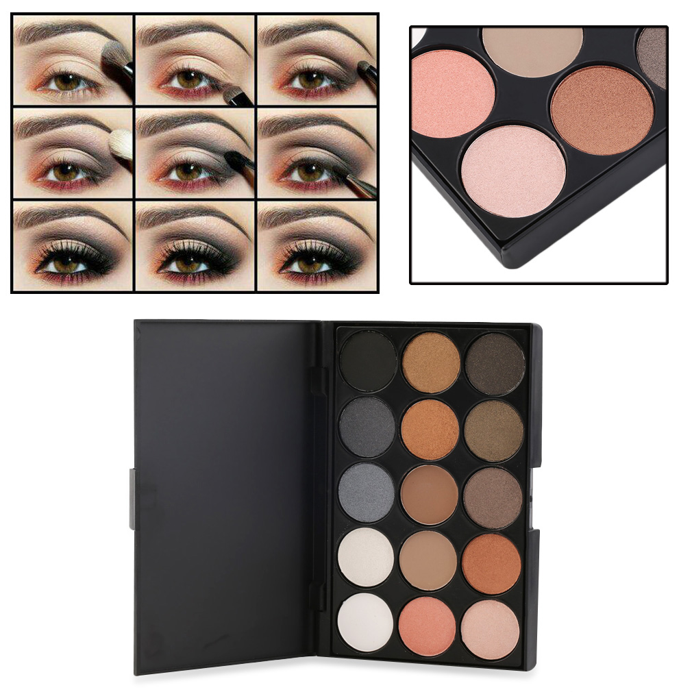 New Professional 15 Colors Matte Shimmer Eyeshadow Palette ...
