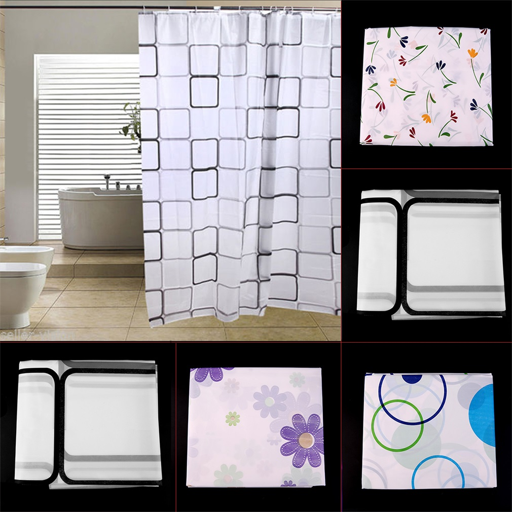 Luxury Modern Bathroom Shower Curtains Extra Long With