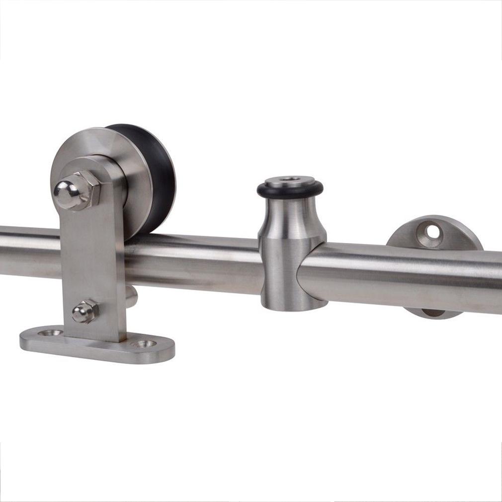 6 6ft Modern Sliding Door Hardware Kit Stainless Steel