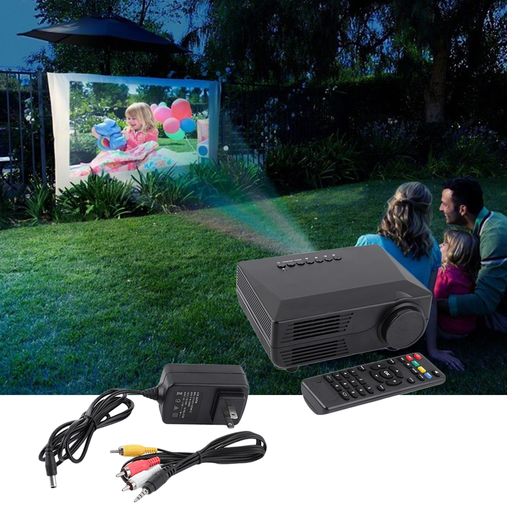 Hiperdeal Home Cinema Theater Multimedia Led Lcd Projector: Mini HD LED Multimedia Projector VGA USB AV HDMI DVD Home