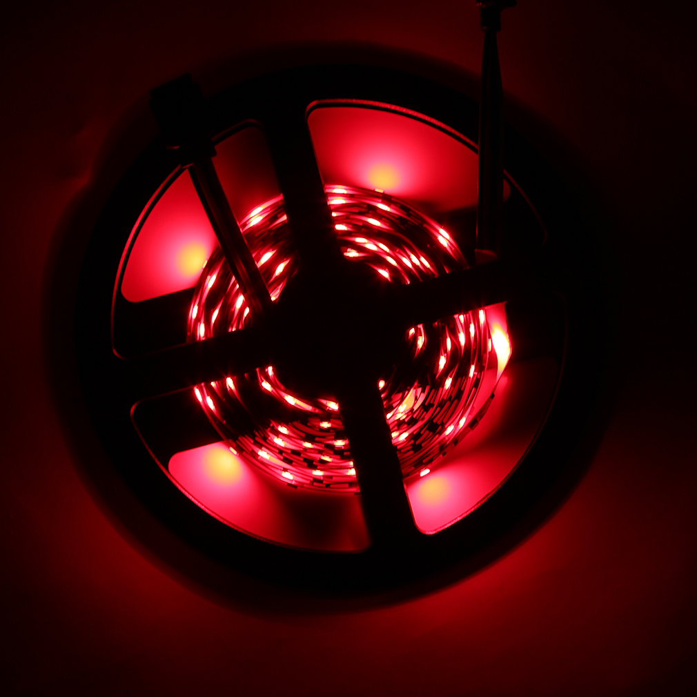 5m rgb 3528 300 led smd flexible light strip lamp 44 key. Black Bedroom Furniture Sets. Home Design Ideas