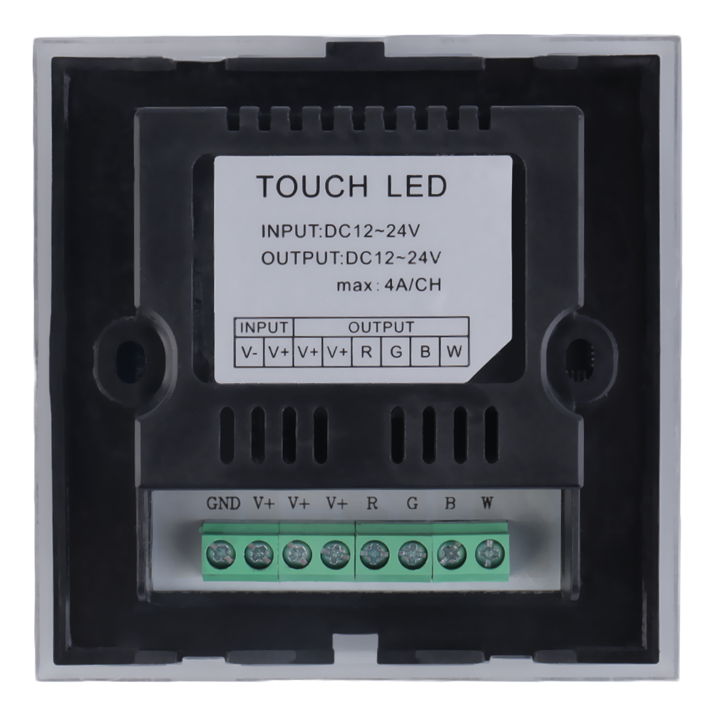 12 24v Rgbw Full Color Dimmer Touch Panel Controller For
